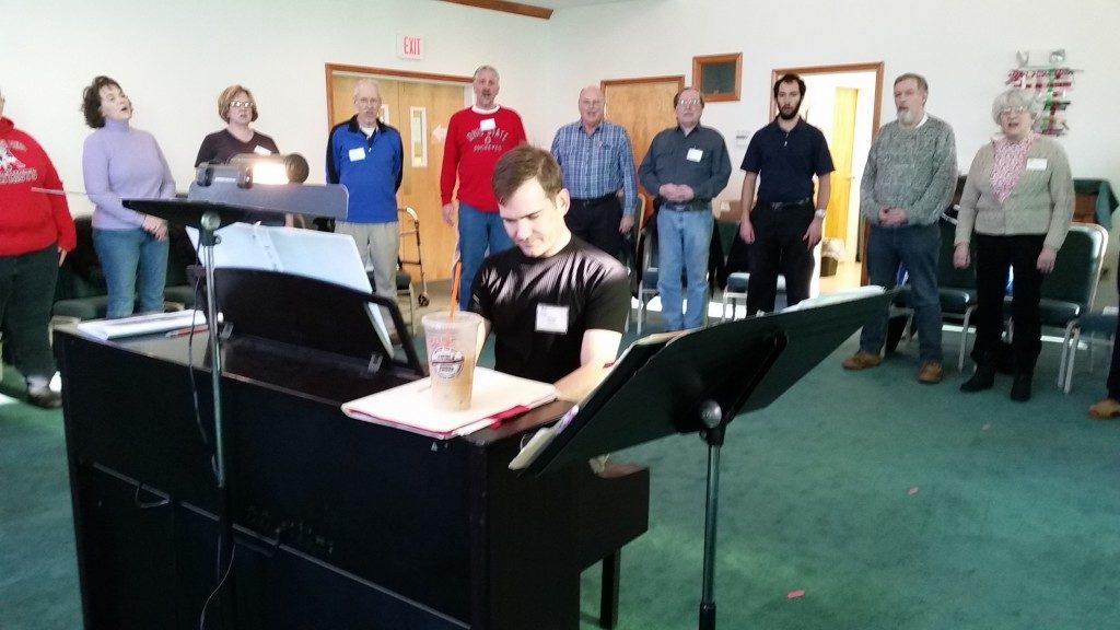 Rehearsal with Dan Roihl