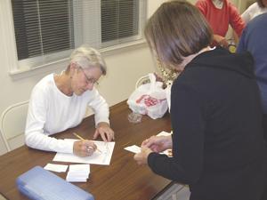 Carol gives tickets, Fall 2005